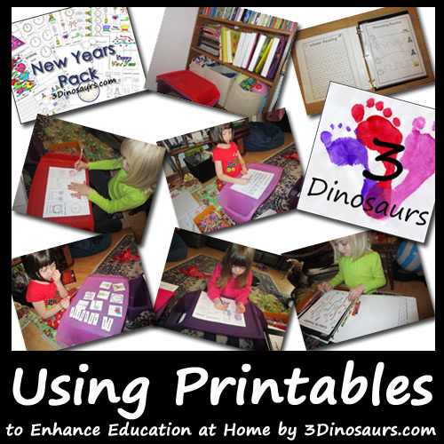 3 Dinosaurs - Using Printables