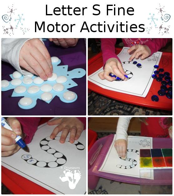 Fine Motor Letter S Activities - 3Dinosaurs.com