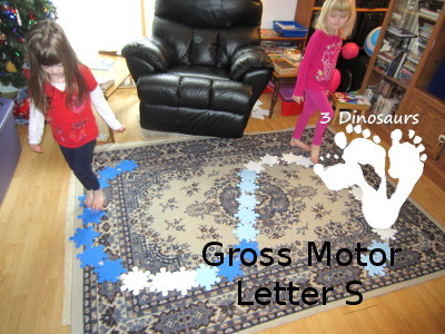 Letter S Gross Motor Activities - 3Dinosaurs.com
