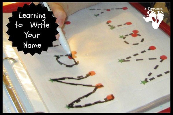 Learning to Write Your Name | 3 Dinosaurs