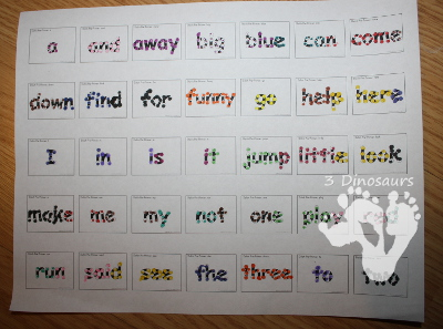Sight Word Dot Fine Motor Activity & New Dolch Second Grade Sight Word Dot Marker Pages - 3Dinosaurs.com