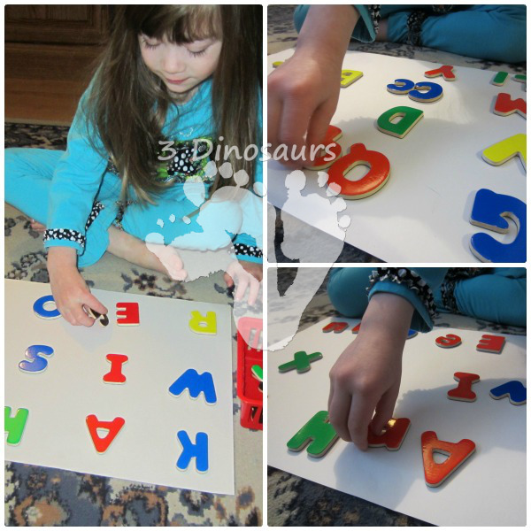 Simple ABC Matching Activity - 3Dinosaurs.com