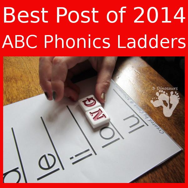 Best Post of 2014 - ABC Phonics Ladders - 3Dinosaurs.com