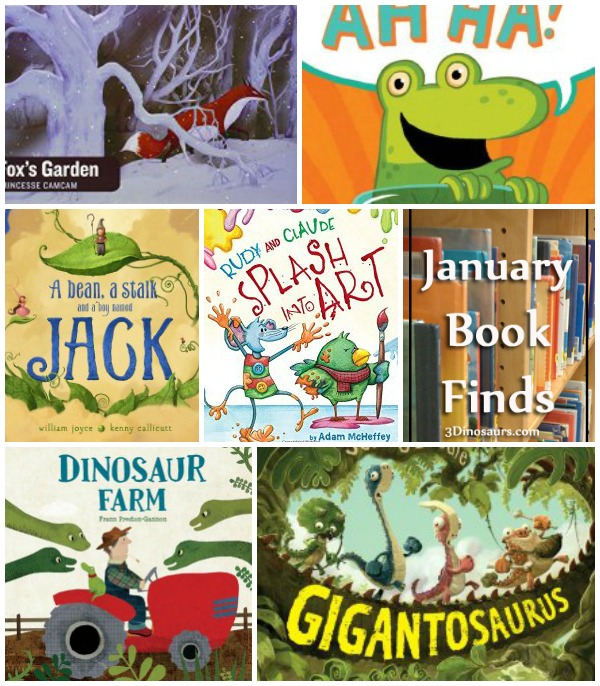 January 2015 Book Finds: wordless, dinosaur, art, and jack & the beanstalk - 3Dinosaurs.com