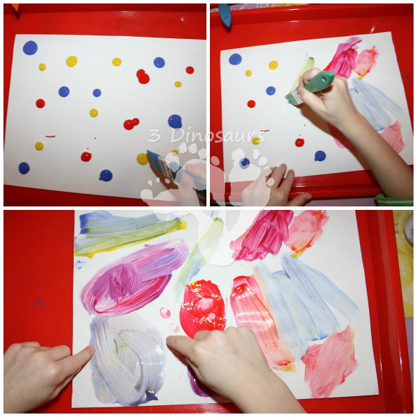 Color Mixing Painting - Mouse Paint - 3Dinosaurs.com