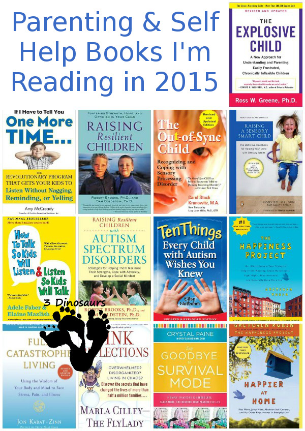 My Reading List of Parenting & Help Books for 2015 - 3Dinosaurs.com