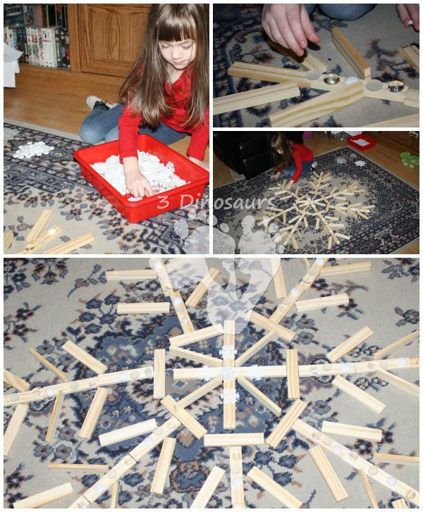 Plank Board Snowflake - 3Dinosaurs.com