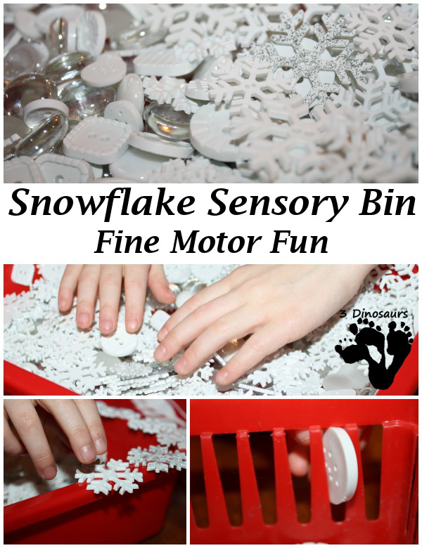 Snowflake Sensory Bin: Fine Motor Fun - 3Dinosaurs.com