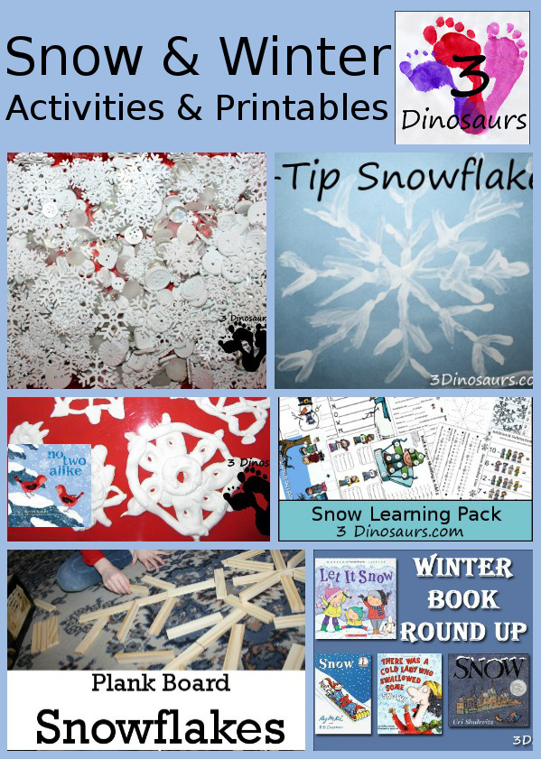 Snow & Winter Activities & Printables from 3 Dinosaurs