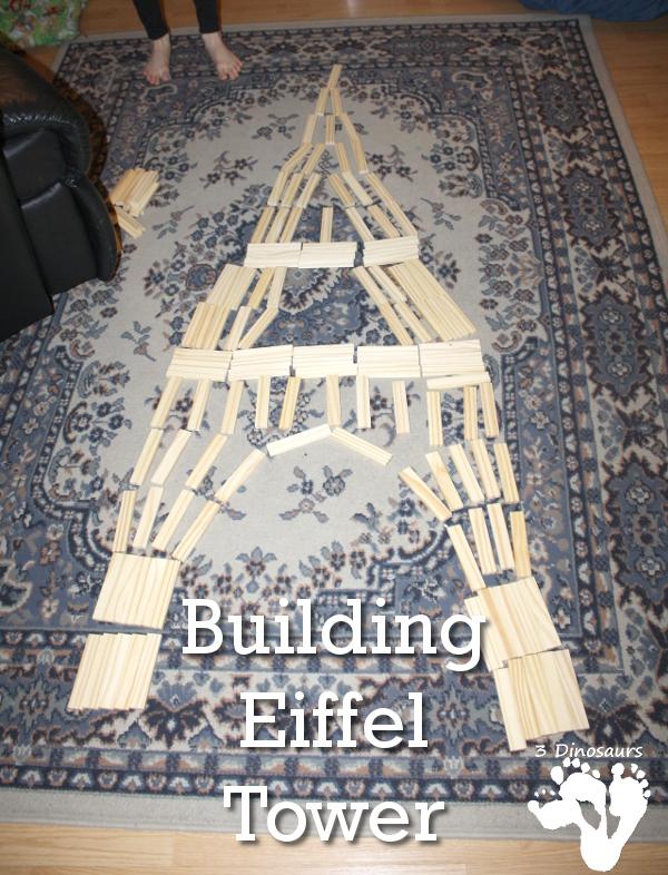 Building Eiffel Tower - 3Dinosaurs.com