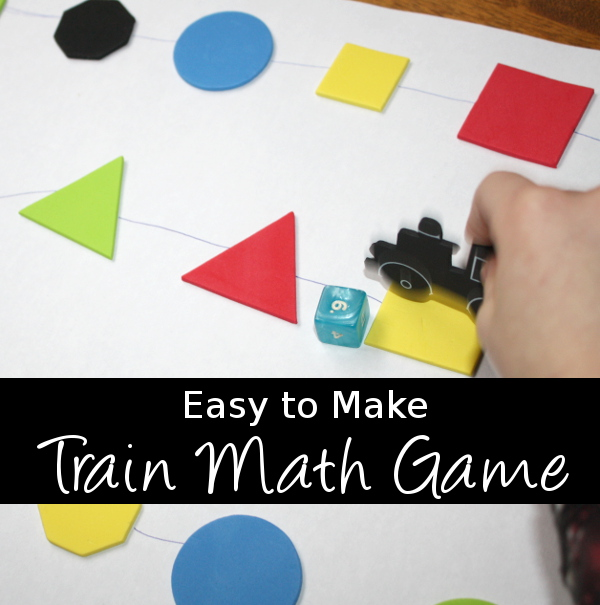 Easy to Make Train Math Game - 3Dinosaurs.com