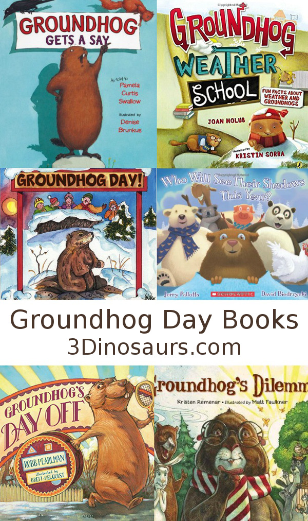 Groundhog Day Books - 3Dinosaurs.com