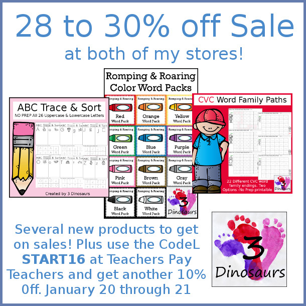 January Sale at my Stores! - 3Dinosaurs.com
