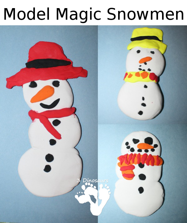 Model Magic Snowman - 3Dinosaurs.com