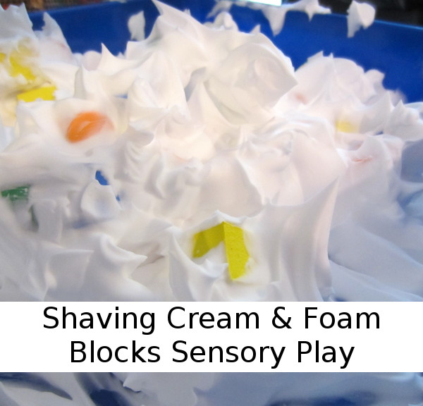 Shaving Cream and Foam Blocks Sensory Play - 3Dinosaurs.com