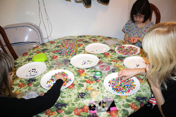 Fine Motor Perler Bead Planets - fun fine motor craft for kids to make - 3Dinosaurs.com