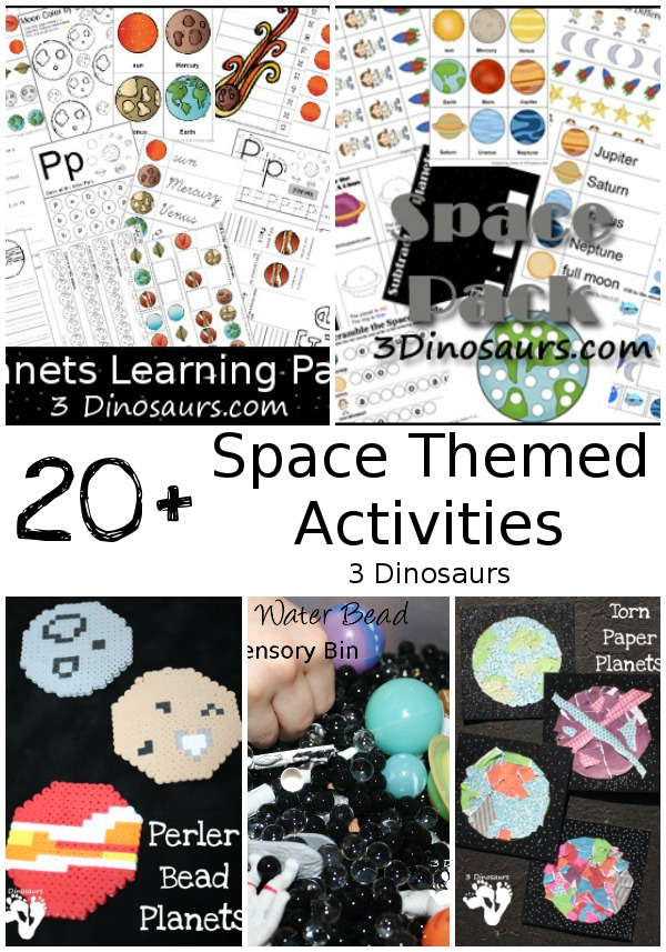 Space Printables & Activities - 3Dinosaurs.com
