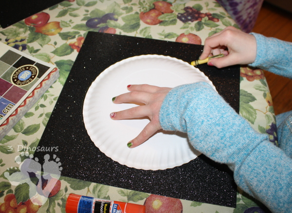 Torn Paper Planets - fun fine motor space craft for kids to make - 3Dinosaurs.com