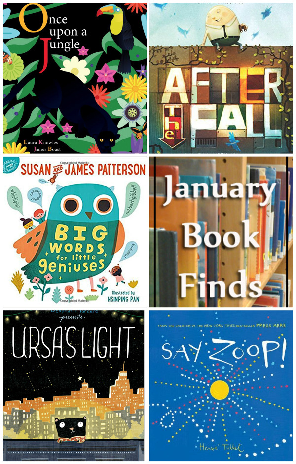 Fun To Read January 2017 Book Finds: fear, interactive, big words, jungle food chain, dreaming big. - 3Dinosaurs.com