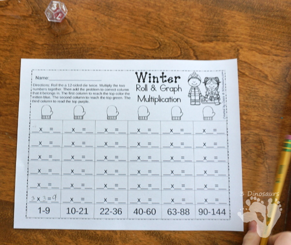No Prep Winter Addition & Subtraction and Multiplication & Division - 30 pages no-prep printables with a mix of addition and subtraction or multiplication and division activities plus a math center activities - 3Dinosaurs.com #noprepmath #tpt #addition #subtraction #multiplication #division