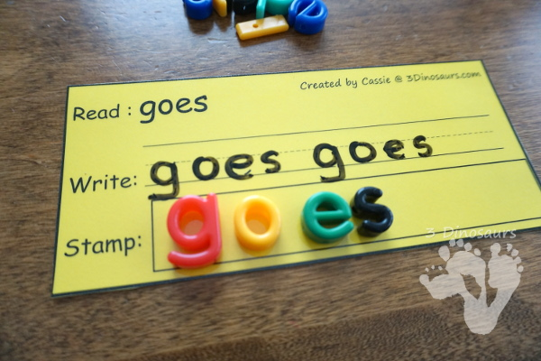 Free Sight Word Read Write & Stamp - all 220 Dolch sight words - 3Dinosaurs.com #sightwords #learningtoread #freeprintables