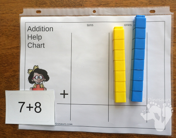 Free Place Value Mats for Addition & Subtraction - 3 mats for addition and subtraction with different levels of place value. - 3Dinosaurs.com
