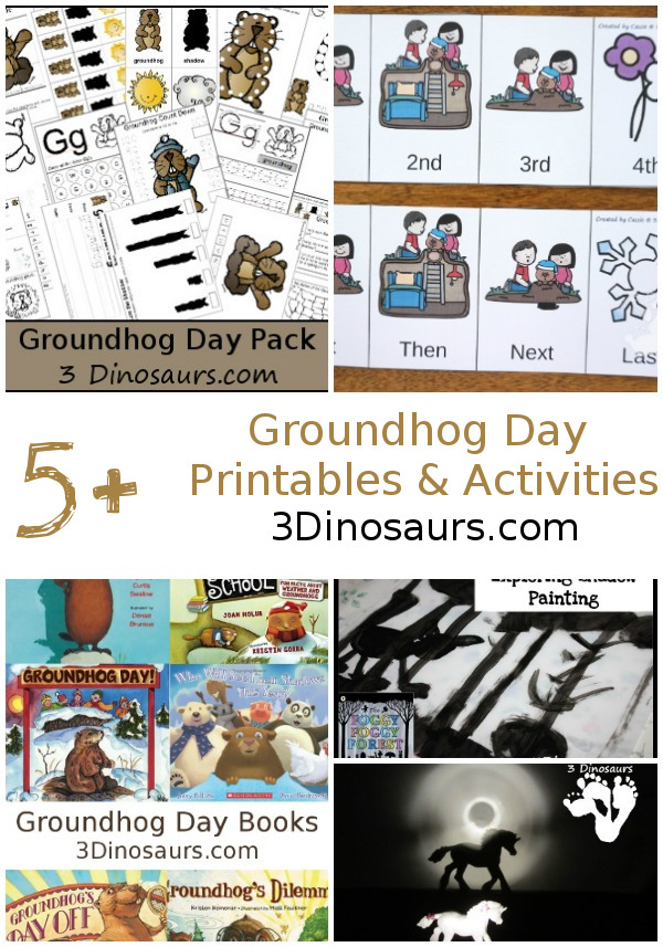 Groundhog Day Printables & Activities - all the fun activities for Groundhog Day - 3Dinosaurs.com
