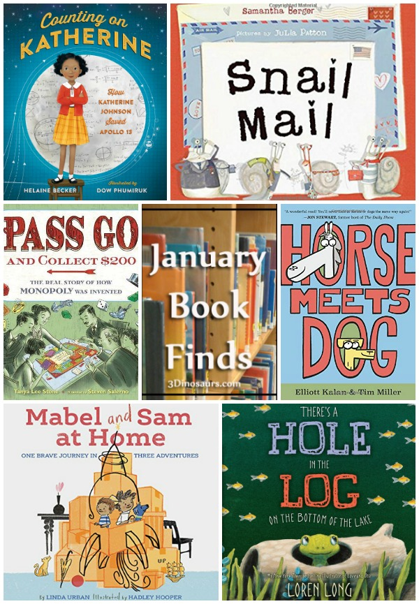 January 2019 Book Finds: history, mail, silly, space, games, ponds, songs, imagination - 3Dinosaurs.com