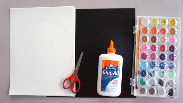 Watercolor Moon: Lunar Eclipse - a great painting project to do with the lunar eclipse - 3Dinosaurs.com