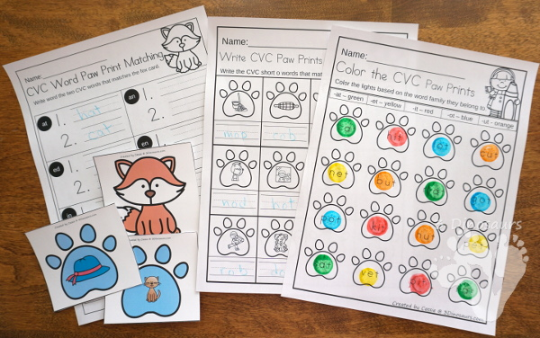 Animals in Winter Packs - PreK & Kindergarten - with loads of activities that work on abcs, numbers, math, CVC words, counting and more -The pack has a mix of hands-on and no-prep activities - 3Dinosaurs.com