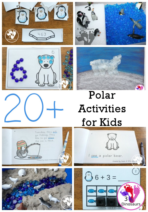 20+ Polar Animals Activities & Printables: Penguins, Arctic & More