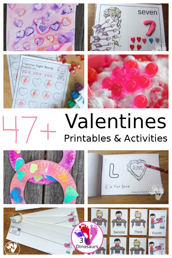 Valentines Activities & Printables on 3Dinosaurs.com