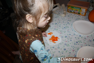 Finger Paint Pumpkins