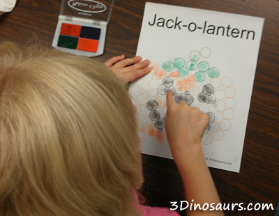 Finger Print Jack-O-Lantern