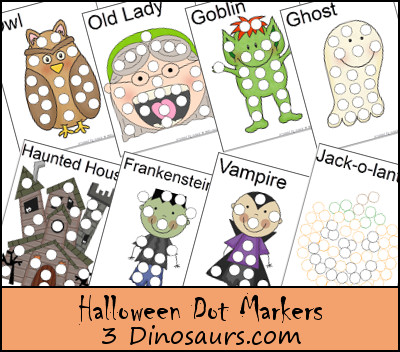Halloween Pack Extra: Dot Markers - 3Dinosaurs.com