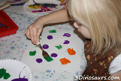 Painting with Kitchen Utensils