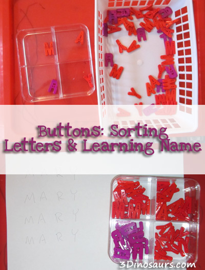 Sorting Letters and Learning Name
