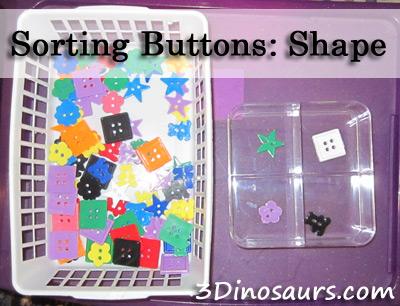 Sorting Buttons: Shapes