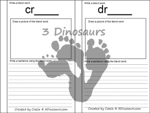 Blends Writing Pritnables - 3Dinosaurs.com