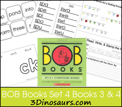 Early Reading Printables BOB Books Set 4 Books 3 & 4