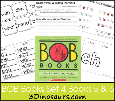 Early Reading Printables BOB Books Set 4 Books 5 & 6