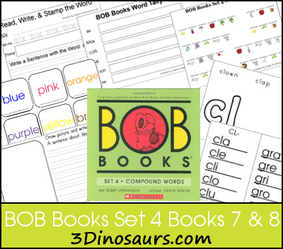 Early Reading Printables BOB Books Set 4 Books 7 & 8