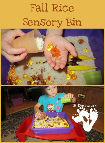 Fall Rice Sensory Bin