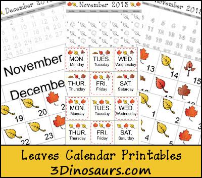 Leaves Calendar