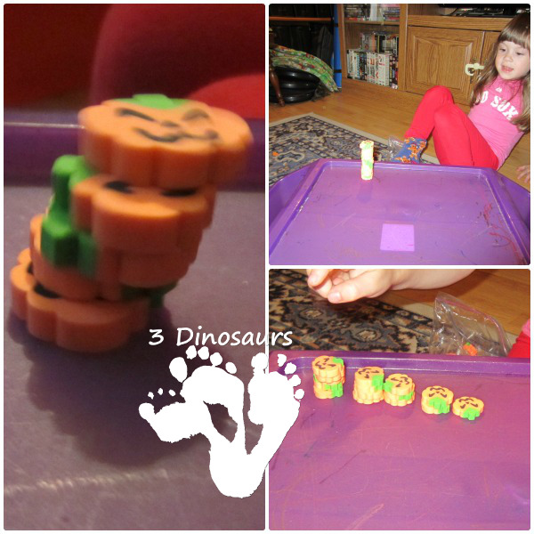Letter P Activities: Stacking and Counting Pumpkins