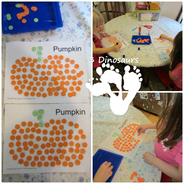 Letter P Activities: Making Dot Pumpkins