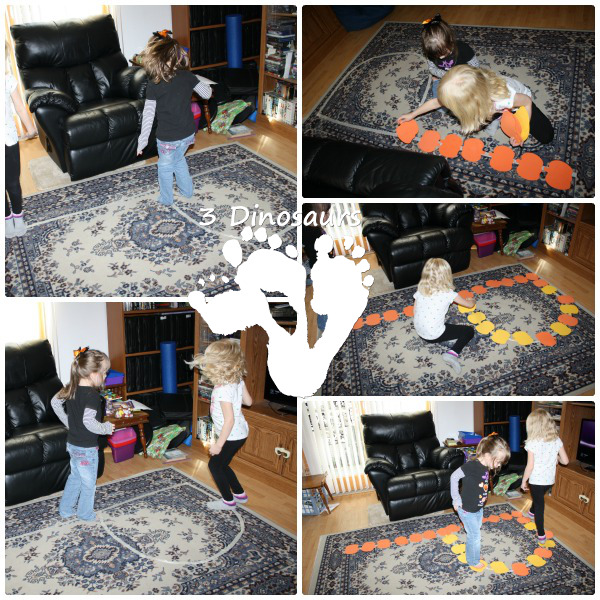 Letter P Activities: Gross Motor P on the Floor