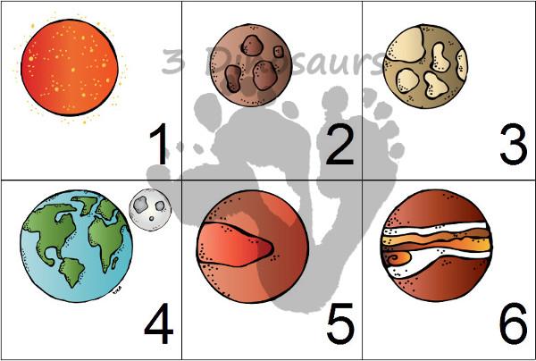 Free 2014 Planets Calendar Set - 3Dinosaurs.com