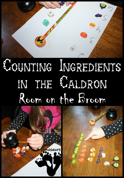 Counting Ingredients in the Caldron - Room on the Broom - 3Dinosaurs.com