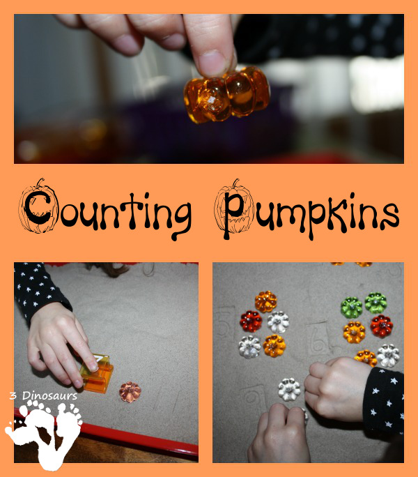 Pumpkin Counting In Sand - 3Dinosaurs.com